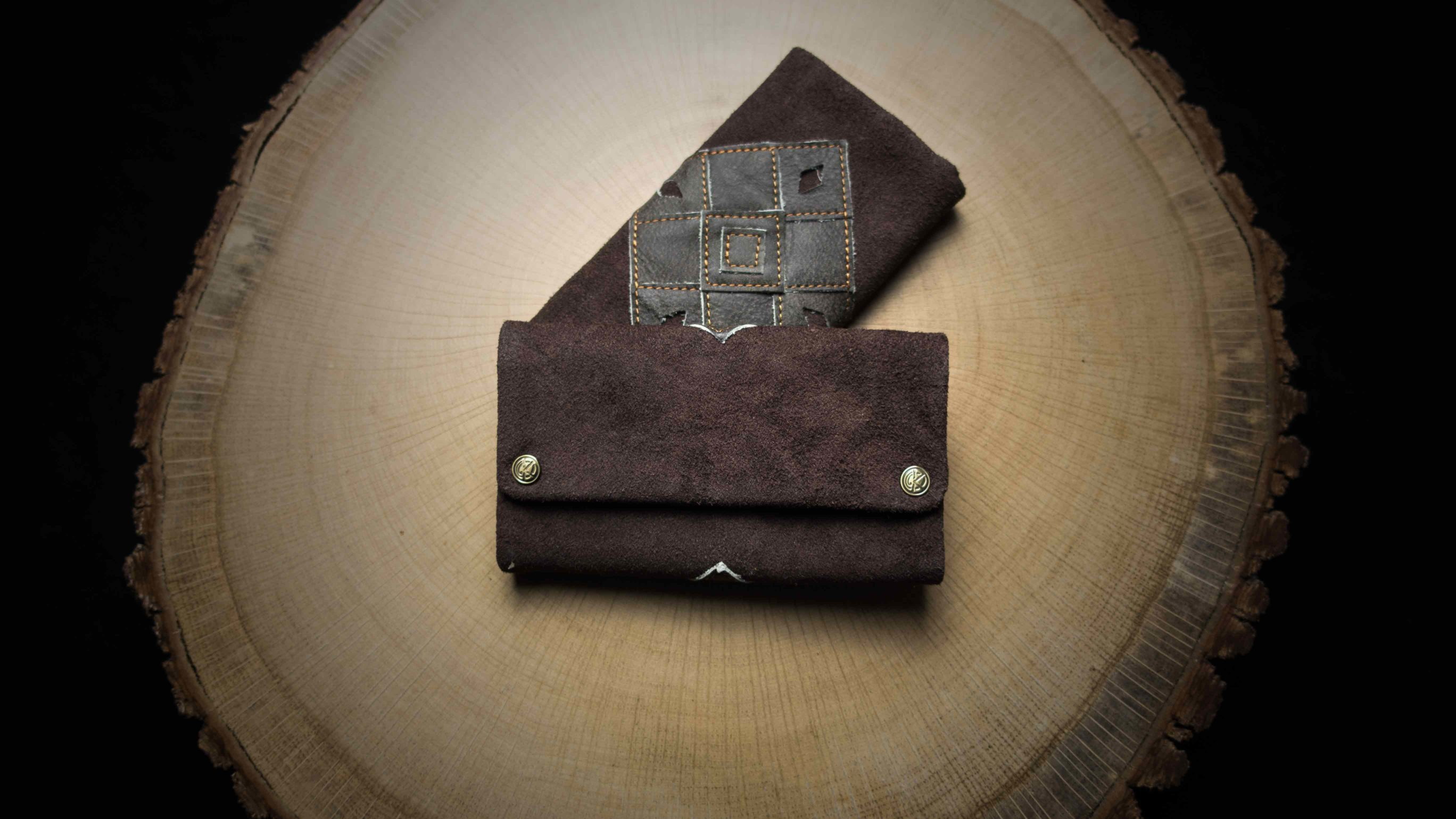 "TP08 Tobacco Pouch ""Patchwork Earth"""