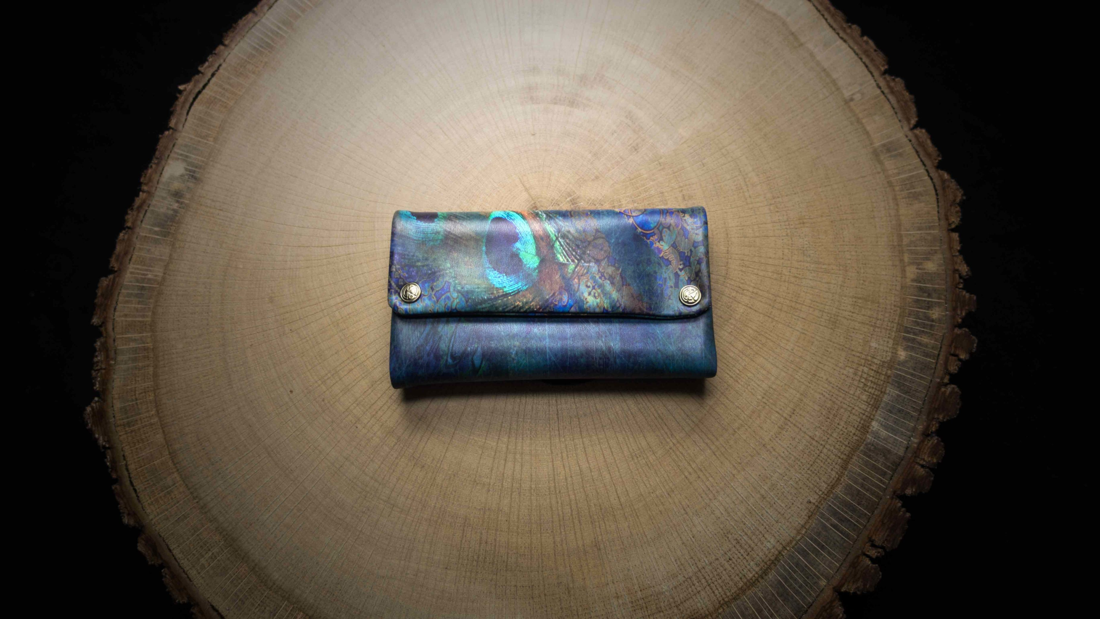 "TPU24 Tobacco Pouch ""Peacock"" Faux Leather (PU)"
