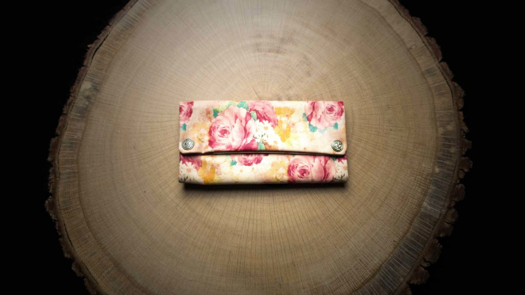 "TPU26 Tobacco Pouch ""Summer Flower"" Faux Leather (PU)"