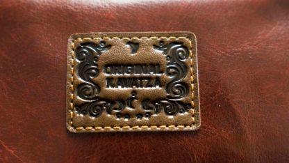 "Tabak Tasche ""Braun"" Kunstleder (PU) Logo"