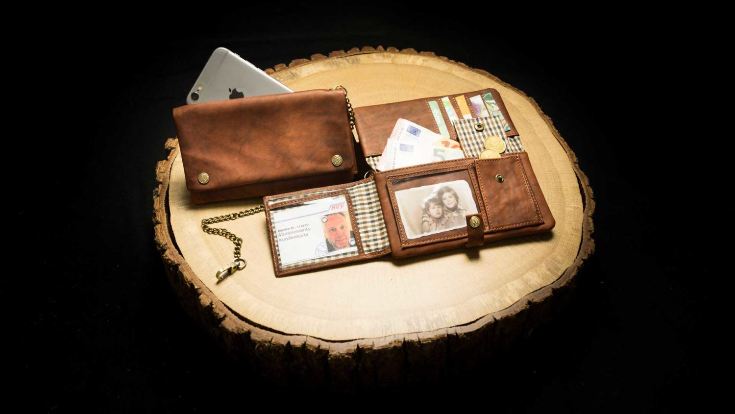 "TWL17RO | Tobacco Wallet (L) ""Havana Deluxe"" 