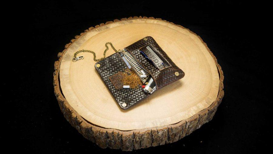 TWS22 Tobacco Wallet (S) Woven Havana 4260419121321