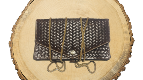 MJC22 - Mary Jane Clutch 'Woven Havana' - EAN: 4260419121291